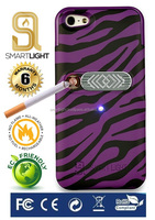 Wholesale hot selling mobile phone Purple Zebra cigarette lighter cover for iPhone 4 4S