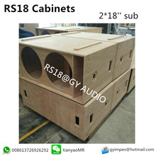 RS18 bass cabinet dual 18 inch subwoofer empty box