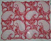 20 Yard indian hand block printed natural Red Colour cotton fabric at wholesale