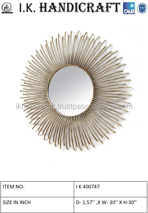 Gold mirror designer wall frame/round wall mirror manufacture and wholseller