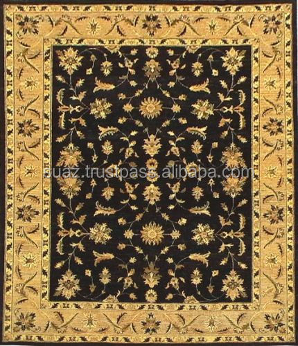 Hand Carved Anti Slip Carpet For Hotels , Modern Design Hand made Carpet 100% Wool Fiber Hand Tufted Carpet