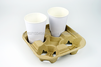 Paper Pulp -4 cup tray