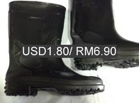 Malaysia construction pvc rain boot. CHEAP, GOOD QUALITY construction pvc rain boots. RM6.90/ USD1.80 pairs!
