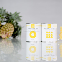 CANNED PINEAPPLE SLICES CHUCKS PIECES IN