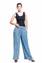Indian Latest Women Sexy Fashion Loose Cotton High Waist Wide Leg Long Pants Palazzo Trousers