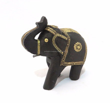 BEAUTIFUL BLACK ELEPHANT STATUE FOR THE HOME DECORATION AND PARTY GIFT/MODERN DESIGN WOOD ELEPHANT STATUE WITH GORGEOUS LOOK