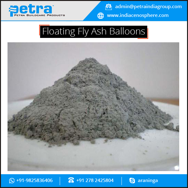 India Supplier of Low Cost Floating Fly Ash Balloons for Concrete and Cement
