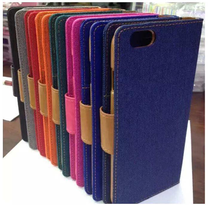 Diary Flip Jeans Canvas Diary Phone Cases For Samgung Galaxy Iphone 6 Plus
