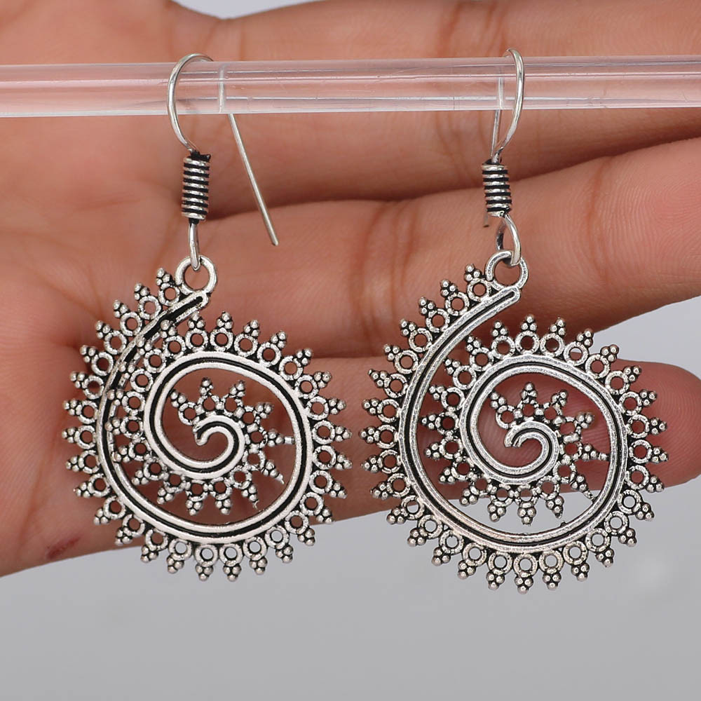 Jaipur Mart Wholesale Oxidised Earrings Silver Plated Jewelry Indian Traditional Design Dangle Earring for Fashion Women & Girls