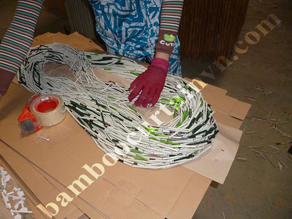 Vietnam Factory Direct Sell High Quality bead door curtain hemp leaf and rasta color