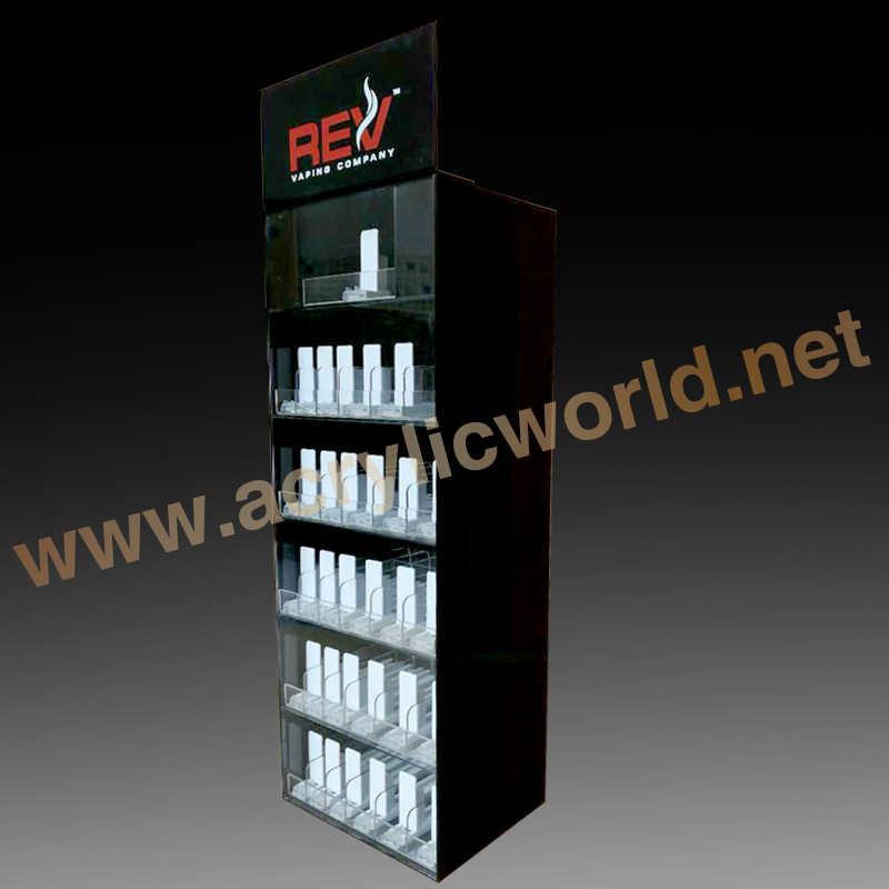 Shop E cig display Wholesale Acrylic Electronic Cigarette Counter Display case