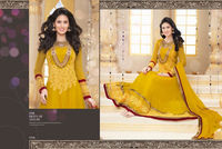 Yellow Georgette Anarkali Suits