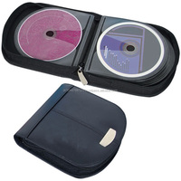 Real leather cd cover / dvd cases wholesale / wedding dvd case with zip