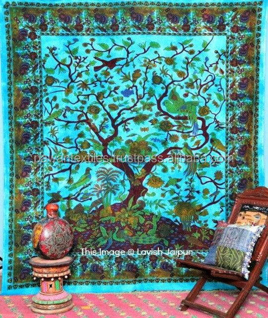 tree of life wall hanging queen size mandala tapestry with 4 loops