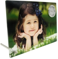 New Sublimation Acrylic Personalised Photo Frame with Clock