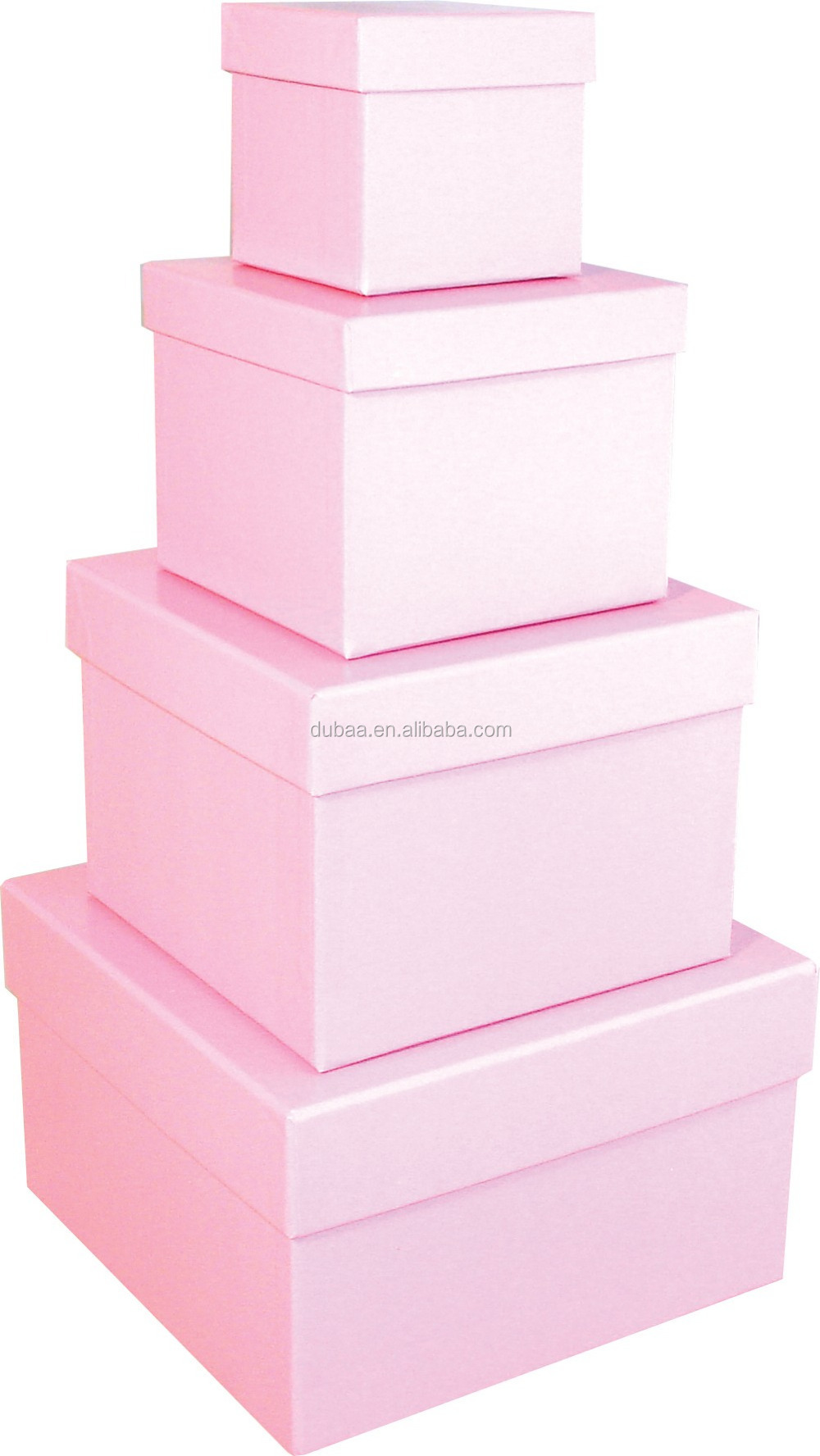 Gift Jewelry Box In Box Multi Layers 4 In 1 Set Square For Lover