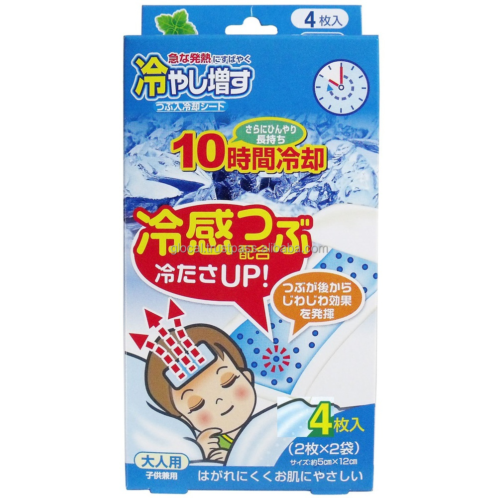 Functional headache patch cooling gel sheet made in Japan