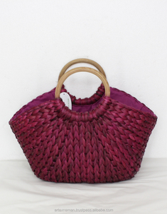 Trendy water hyacinth lady's handbag