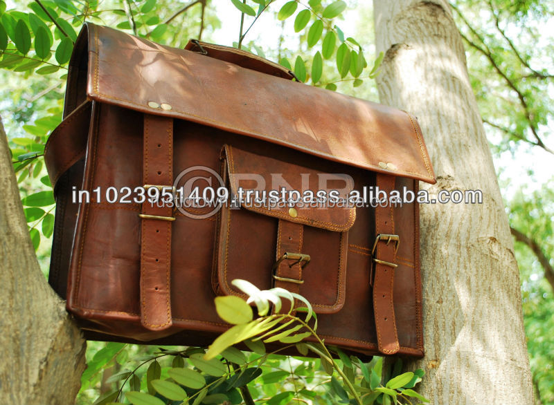 Handmade genuine Leather Laptop Bag Leather Satchel Briefcase Leather Messenger Bag