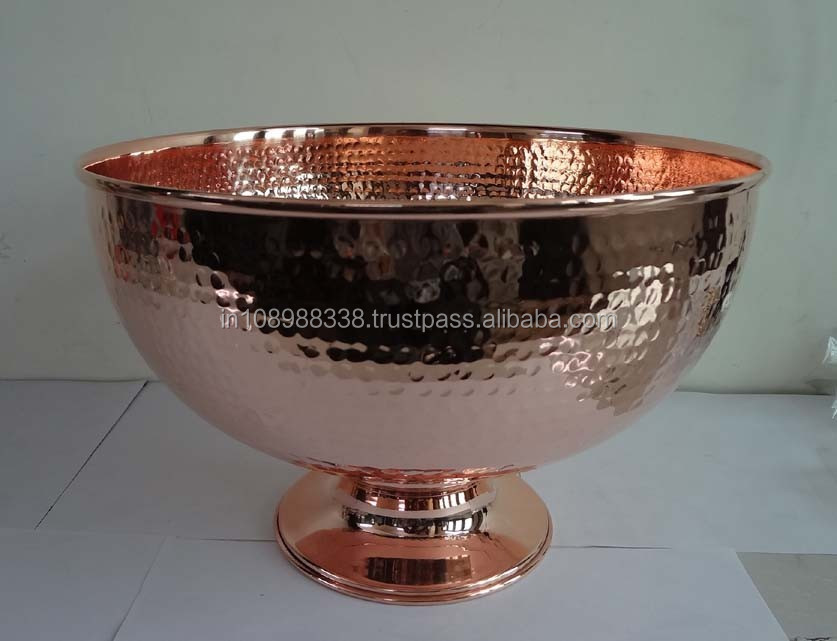 Copper Punch Bowl Hammered Copper Bowl