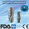 Dental implant + abutment conical connection similar Nobel Active platform