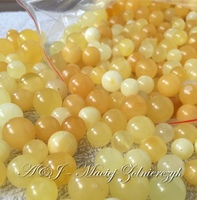 Natural Baltic Amber Loose Beads 10 - 15mm Natural Round Gemstone, Genuine Authentic Amber From Poland, Wholesale Price