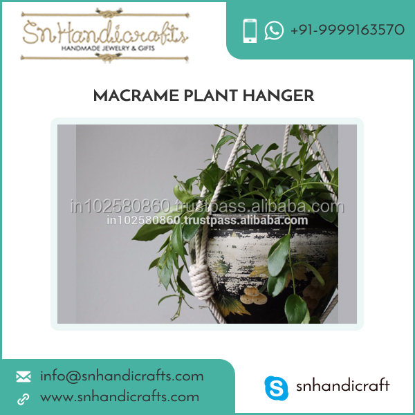 Premium Quality Decorative Marcame Plant Hanger and Rope Plant Hanger