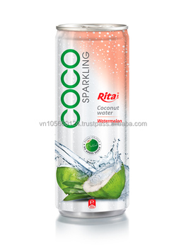 Sparkling Coconut Water With Watermelon