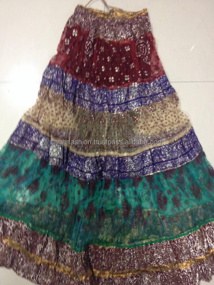 Latest Design Rajasthani Long Skirt Indian Skirt Wholesale Price ...