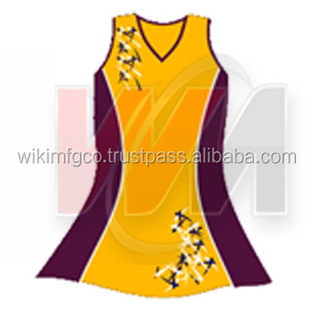 Netball Dresses Yellow Gold Full Design