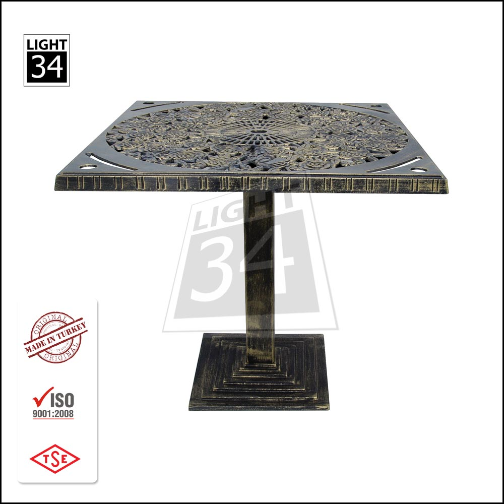 Top Quality Cafe Restaurant Patio Garden Bistro Table Aluminum Cast Coffee Table