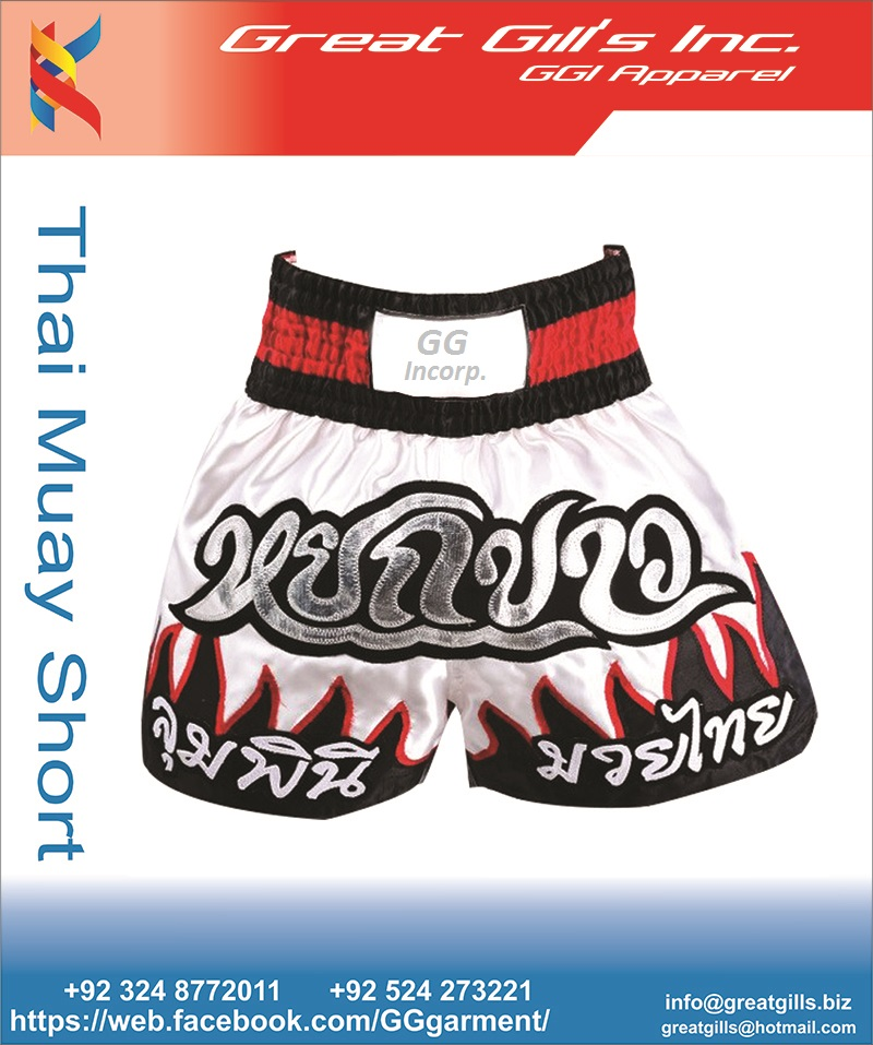 100% Polyester sports gym compression boxer shorts ,muay thai shorts ,mma shorts