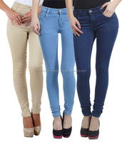 2016 New Women Long Jeans Pants Trousers Denim Pencil Pants Slim for Wholesale