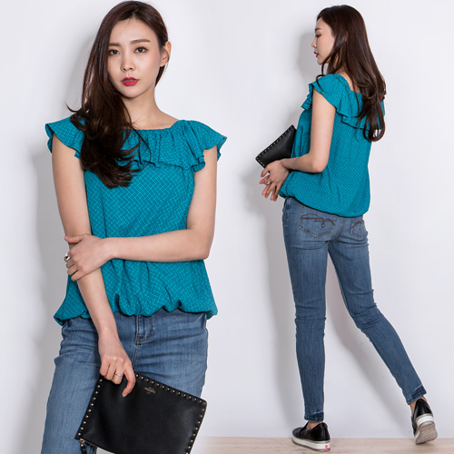 Brand stock Rubber band blouse