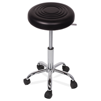 Bar kitchen office chair stool in PU mould foam with chrome legs CARMEN 3075 Black, Red, White colors