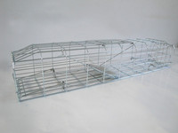 Humane Live Catch Animal Mink Trap Cage Galvanized Surface Pest Control