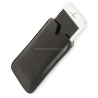 Luxury Slim Black PU Leather Mobile Case