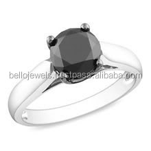 5ct Black Diamond 925 silver Solitaire Gemstone Ring In Canada