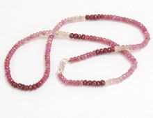 "16 "" Long 1 Strand Ruby 2.5 - 3 mm perles de pierres précieuses collier à Chicago"