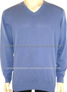 LOW PRICE SWEATER-ACRYLIC CASHMERE LIKE PIECE DYED PULLOVER SWEATERS