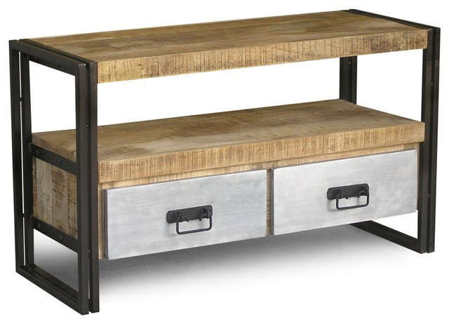 industrielle table console avec tiroir pour le stockage. Black Bedroom Furniture Sets. Home Design Ideas