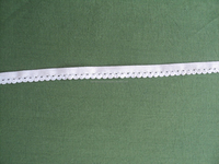 Nylon elastic lace in white color / 100% nylon fabric lace / elastic lace