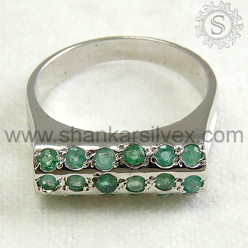 Marvelous Design !! 925 Emerald Sterling Silver Ring /Gemstone Cheap Silver Jewelry RNCT1531-1
