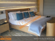 Hospitality bed making follow design customer for hotel furniture set