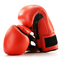 Cow Hide Best Qualty Red Color Boxing Gloves
