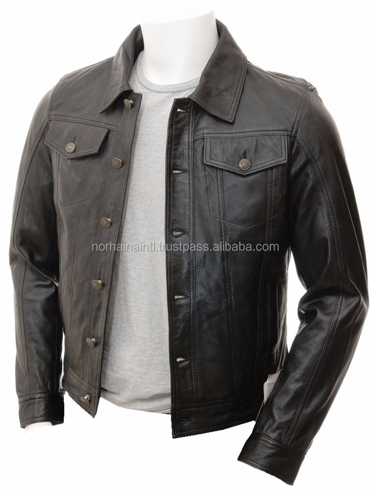 2016 new fashion cheap bulk men leather jackets wholesale china supplier