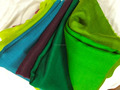 Light 100% Cashmere Scarf in Spring Colors