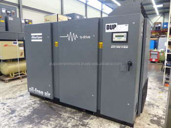 Used rotary screw air compressor Atlas Copco ZR 160 VSD