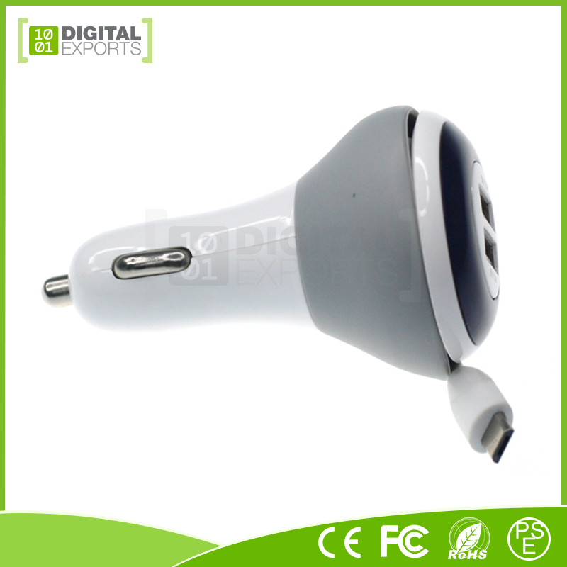 2017 Digital Exports Wholesale Custom universal cell phone car charger with micro data cable