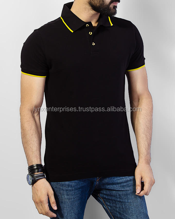 Polo T-shirt for Men 100% Cotton /Custom Panel / Collar Neck